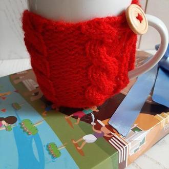Чехол для чашки, теплушка - грелка, свитер на чашку