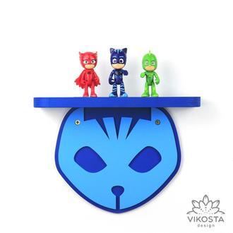Детская деревянная полка Кэтбой, Герои в масках, полки для игрушек, деревянный декор для детской