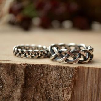 Скандинавские обручальные кольца Коса