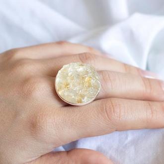 Перстень з цитрином. Широка основа