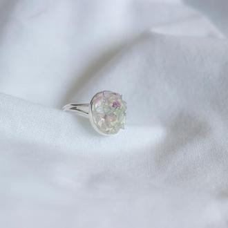 Перстень з дрібним флюоритом