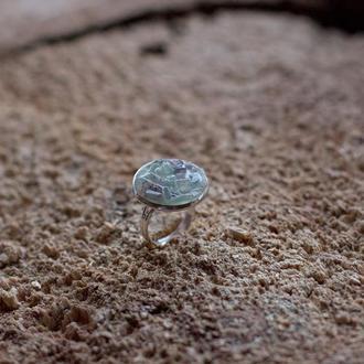 Перстень с флюоритом