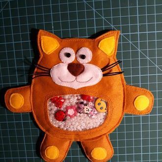 """Игрушка-искалка """"Оранжевый кот"""""""