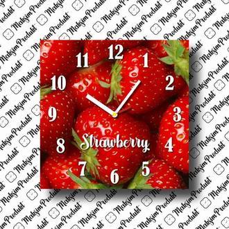 Часы клубничка