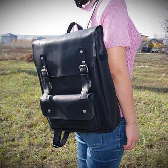 Кожаный рюкзак Meinbag Сraft Man (унисекс, черный)