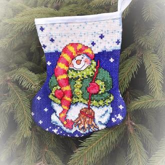 Новогодний сапожок-рождественский носок.