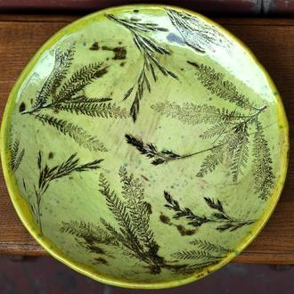 Тарелка керамическая большая 'Леля'