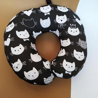 Подушка для путешествий - коты Киев, дорожная подушка- котики Днепр, подушка в машину - коты Киев