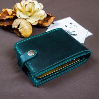 Кошелек  бумажник натуральная  кожа с гравировкой