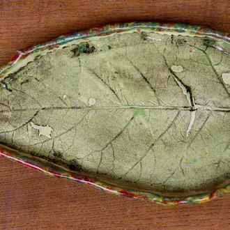 Керамическая тарелка Осенняя'