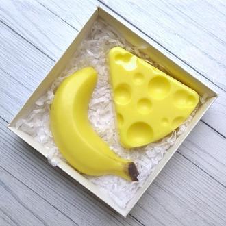 Сувенирное мыло: набор: банан и сыр