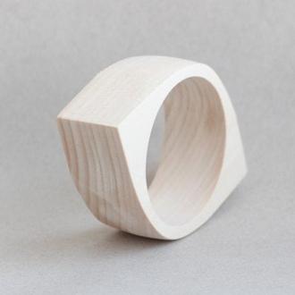 Браслет деревянный - Око - 35 мм (3.5 см) - липа - NE-35