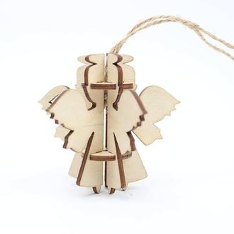 Деревянная ёлочная игрушка - ANGEL