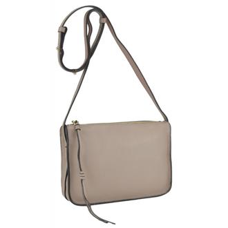 Розовая кожаная женская сумка W12-815P