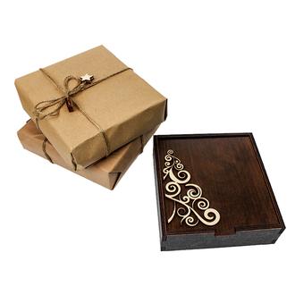Подарочный набор деревянных ёлочных игрушек - PRESETNBOX