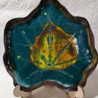 тарелка керамическая мальва
