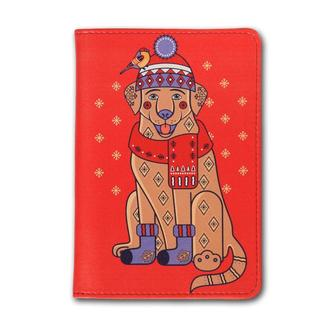 Обложка на паспорт с собакой