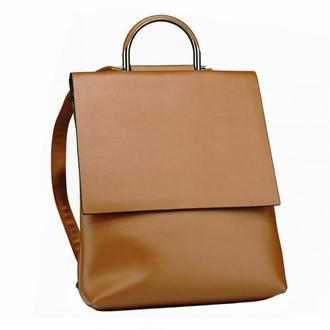 Коричневый кожаный женский рюкзак NWB23-6802LB-BP