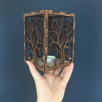 """Подсвечник """"Magic Forest"""". Декор для дома, праздников. Ночник. Подарок."""