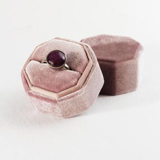 Бархатная коробочка для кольца (цвет Rose Quartz)