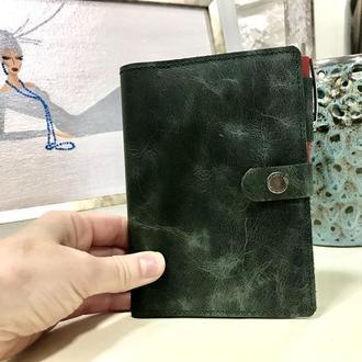 Обкладинка для блокнота формату А6. Блокнот у шкіряній обкладинці.