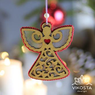 """Игрушка на елку """"Ангелок"""", новогодняя елочная игрушка, подвеска на елку, новогодний декор"""