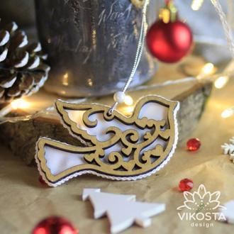 """Іграшка на ялинку """"Пташка"""", новорічна ялинкова іграшка, підвіска на ялинку, новорічний декор"""
