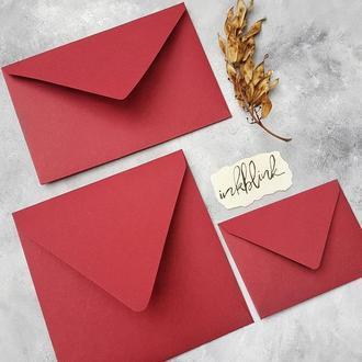 Плотный однотонный конверт 15,5х15,5 (разные оттенки)