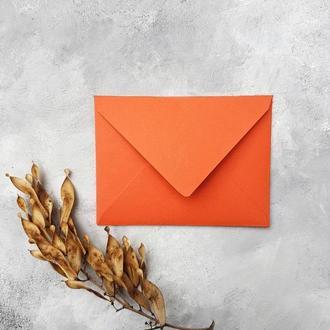 Плотный однотонный конверт 8х11 (разные оттенки)