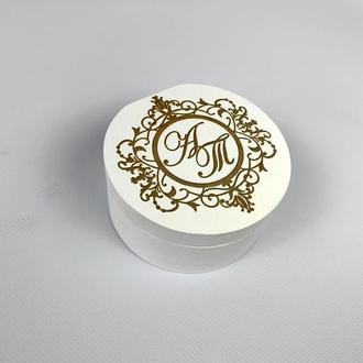Свадебная шкатулка для колец с гравировкой