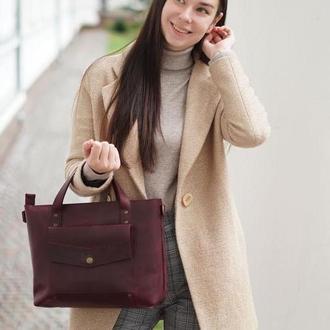 Кожаная сумка NoCompromis, практичная сумка повседневная сумка, удобная сумка из кожи