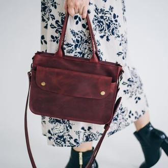 Сумка на плече жіноча, міська сумка з натуральної шкіри, сумка для дівчини