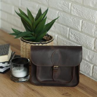Кожаная сумка через плечо, женская сумка через плечо, подарок для девушки, мамы, сестры