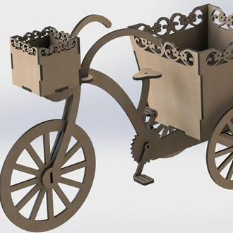 """Подставка с корзинками для цветов """"Велосипед"""""""
