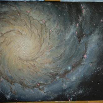 Картина Галактика М 74. Космос. Вселенная.