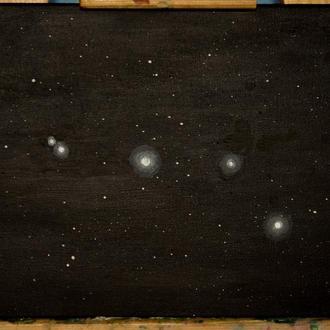 Картина Созвездие Большая Медведица. Космос. Вселенная.