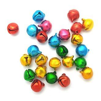 Заготовка для бизиборда Бубенчики разноцветные Бубенцы 8мм Колокольчики ЗВУК дзвіночки для бізіборда