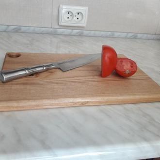 Доска кухонная досточка для разделки из цельного дерева