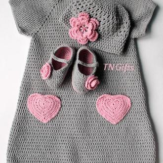 В'язаний дитячий комплект/ Вязанный детский комплект для малышки