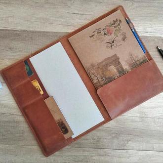 Органайзер для документов, кожаная папка для документов