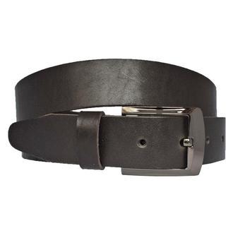 Major темно коричневый мужской кожаный ремень под джинсы