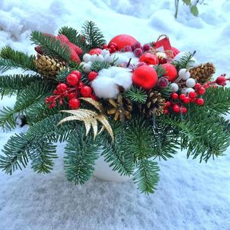 Композиция на стол , рождественская композиция