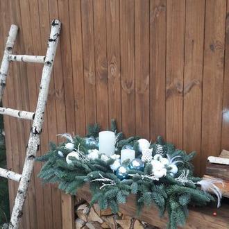 Новогодняя композиция на стол , рождественский декор