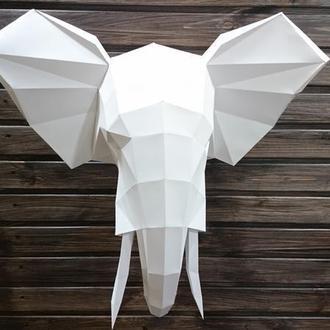 Голова слона (полигональный трофей)