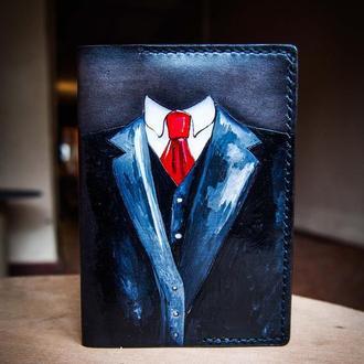 Обложка на паспорт, мужская обложка, для паспорта, костюм, обложка на паспорт с рисунком