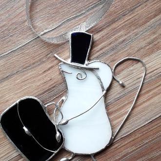 НОВОГОДНИЕ ИГРУШКИ Мышка – Джентльмен с чемоданом