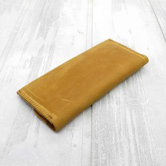 Кошелек портмоне на магнитах желтый magnets