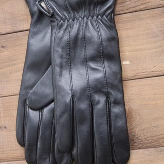 Черные женские кожаные перчатки, перчатки из кожи для сенсорных телефонов