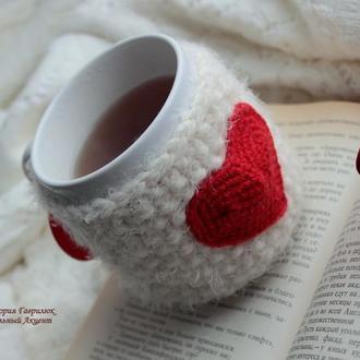 Грелка-чехол на чашку LOVE