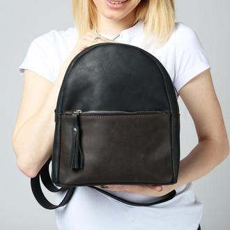 Рюкзак из натуральной кожи черный egg